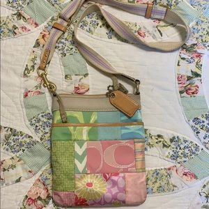 Coach floral crossbody